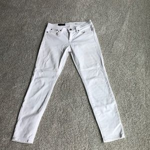 J crew toothpick white ankle jeans